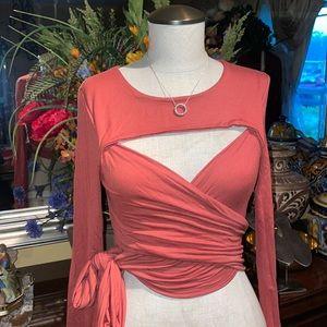 Fashion nova cris cross top